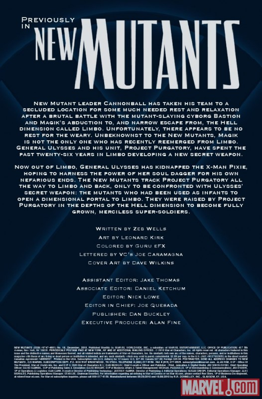 NEW MUTANTS #18 recap page