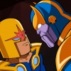 Nova and Thanos face off in The Super Hero Squad Show