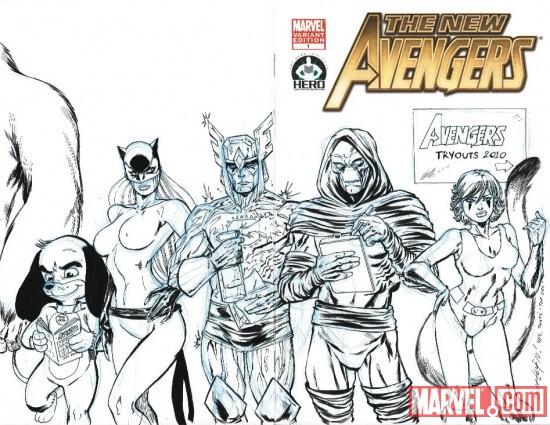 New Avengers #1 cover by Tim Seeley