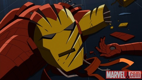 Iron Man's armor torn to shreds in The Avengers: Earth's Mightiest Heroes!