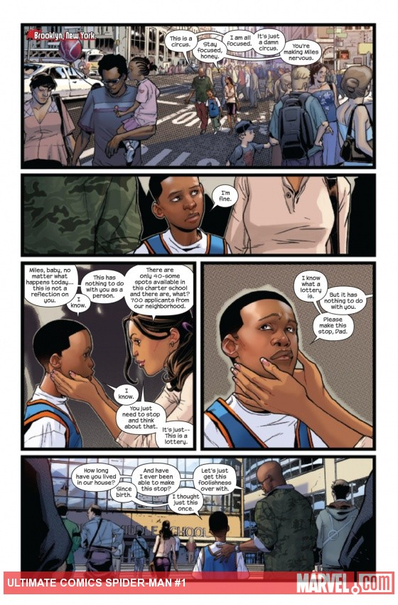 Ultimate Comics Spider-Man (2011) #1 preview page by Sara Pichelli
