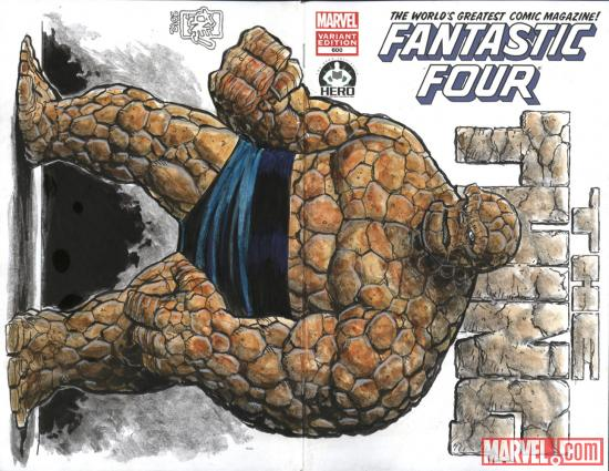 Fantastic Four #600 Hero Initiative variant cover by Tone Rodriguez