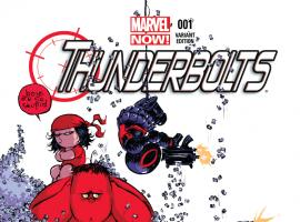 cover from Thunderbolts (2012) #1 (YOUNG BABY VARIANT)