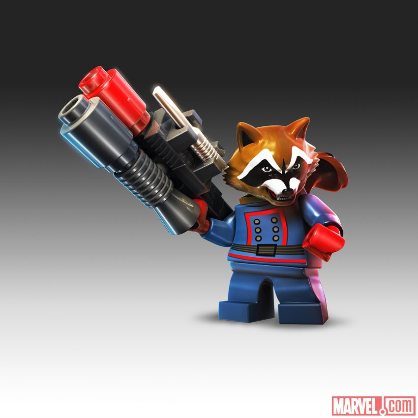 Lego Marvel Super Heroes Rocket Raccoon Rocket raccoon in lego marvel