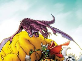 Image Featuring Pet Avengers, Frog Thor, Redwing, Lockheed