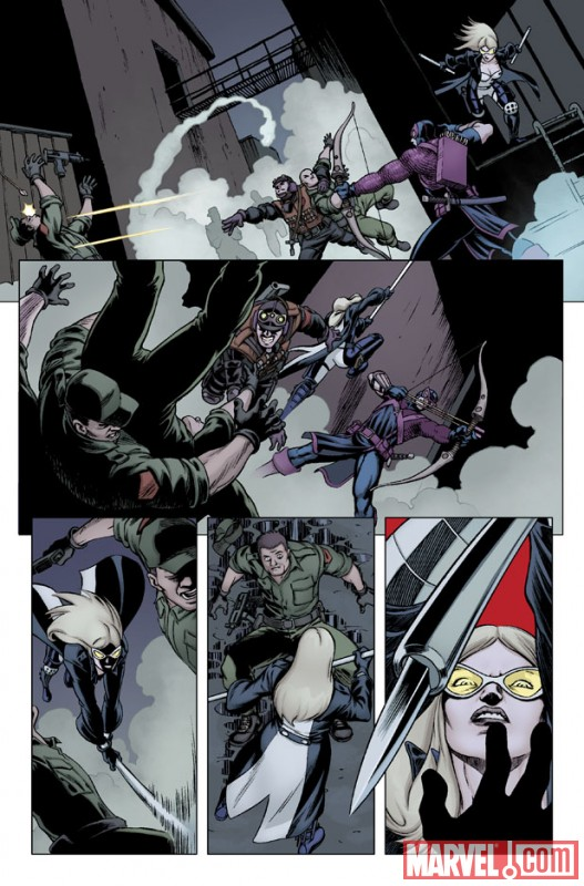 HAWKEYE & MOCKINGBIRD #3 preview art by David Lopez 3