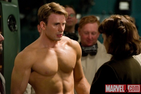 Chris Evans stars as Captain America in Captain America: The First Avenger