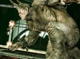 Screenshot of the Rhino in the Amazing Spider-Man video game