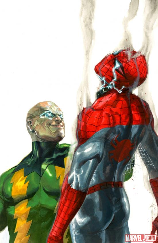 Electro vs. Spider-Man by Gabriele Dell'Otto