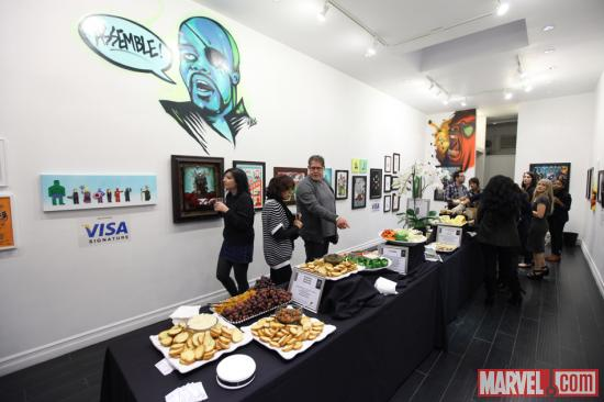 Fans assembled at Gallery1988 in Los Angeles for a special Avengers-inspired exhibit