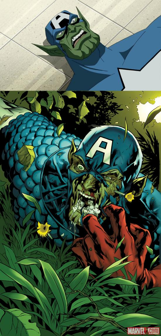 Skrull-Captain America defeated
