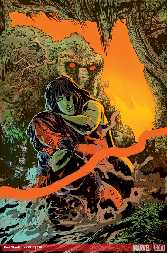 Red She-Hulk #66 cover by Francesco Francavilla