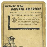 The back of Captain America trading card #10 from the Marvel Cinematic Universe