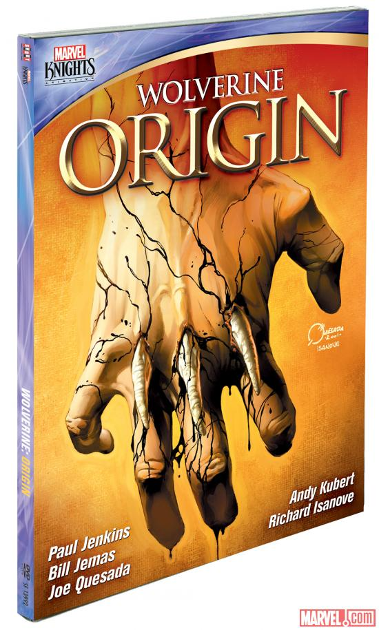 Wolverine: Origin DVD box art by Joe Quesada and Richard Isanove
