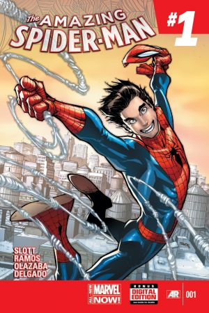 Amazing Spider-Man (2014) #1 cover by Humberto Ramos