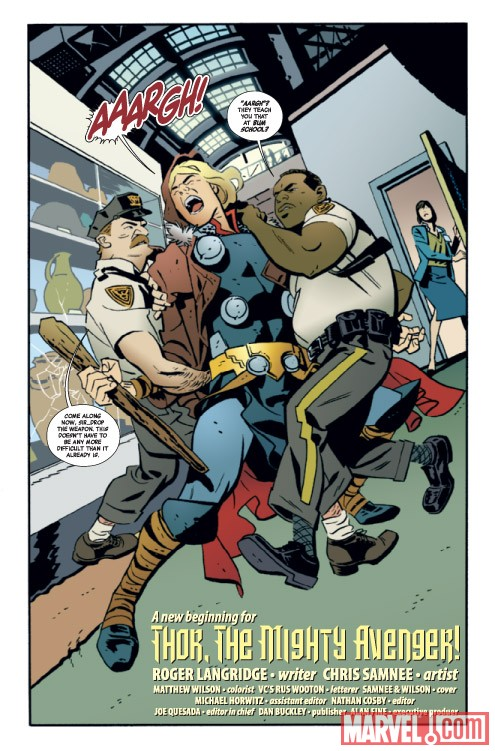 THOR: THE MIGHTY AVENGER #1 preview art by Chris Samnee