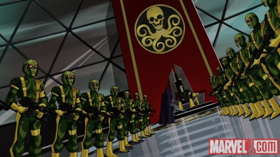 Screenshot of Baron Strucker and HYDRA from The Avengers: Earth's Mightiest Heroes!