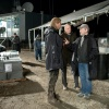 Chris Hemsworth, Stellan Skarsgard and director Kenneth Branagh behind the scenes of Thor