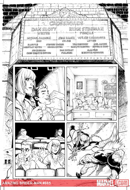 Amazing Spider-Man #665 inked preview art by Ryan Stegman