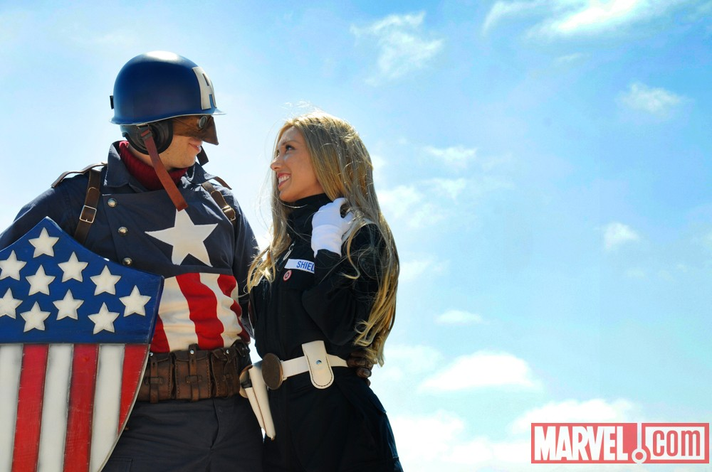 San Diego Comic-Con 2011: Captain America and Sharon Carter Costumers