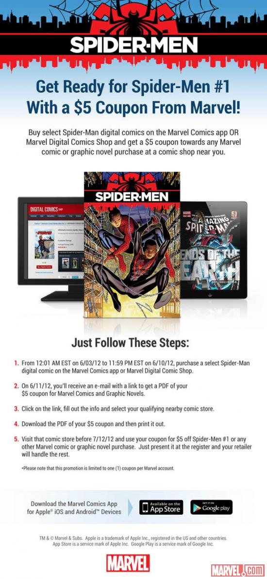 Spider-Men digital coupon promo
