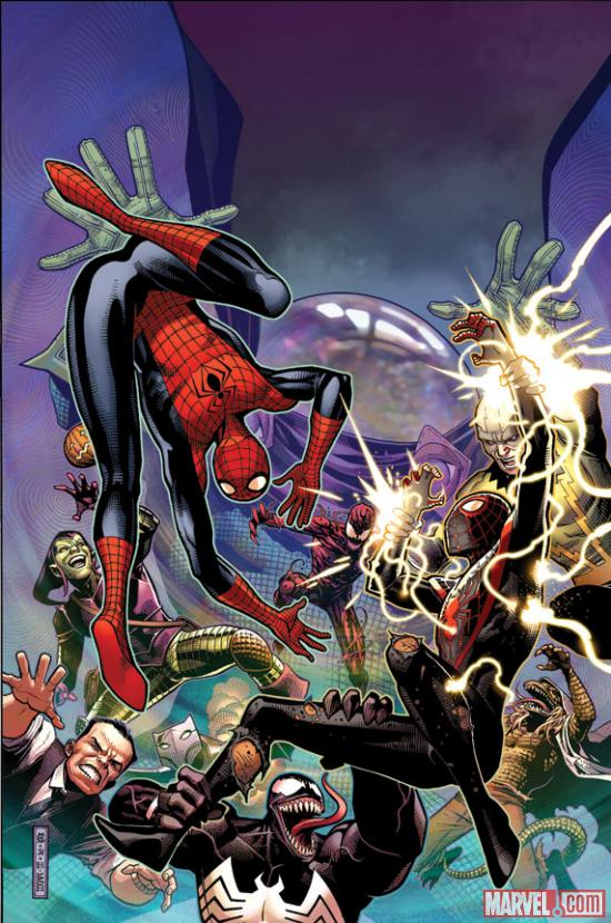 Spider-Men #3 cover by Jim Cheung