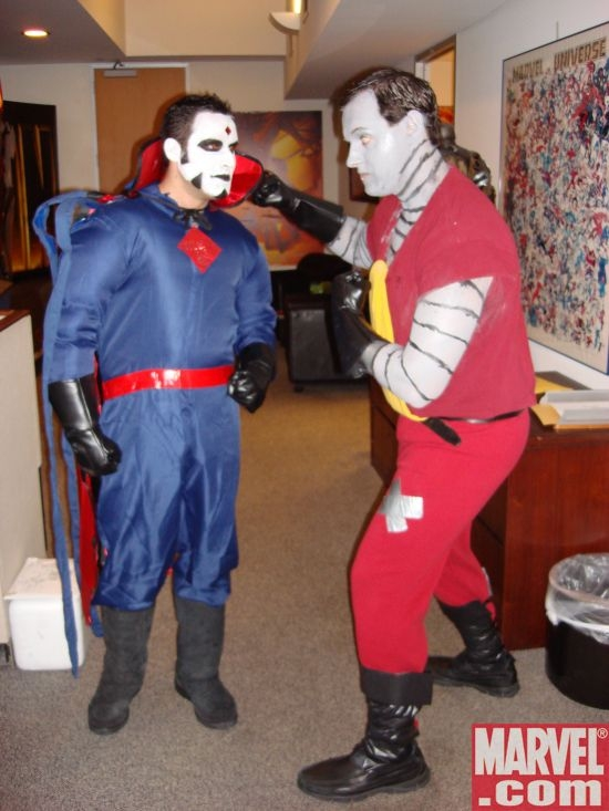 Colossus and Mr. Sinister duke it out