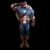 Captain America Wii render from Captain America: Super Soldier by Next Level Games
