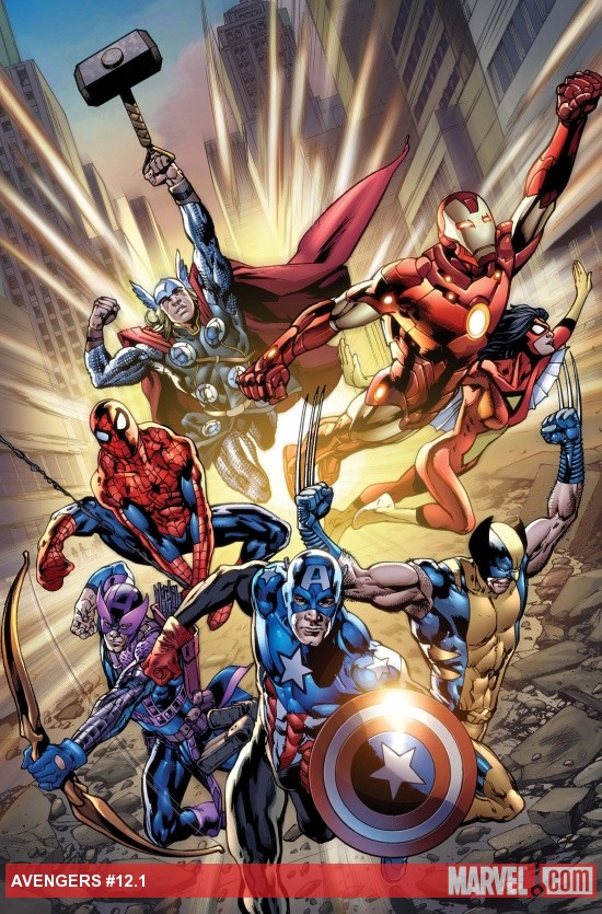 Avengers (2010) #12.1 cover by Bryan Hitch