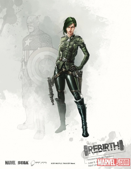 Madame Hydra concept art from Captain America: Super Soldier