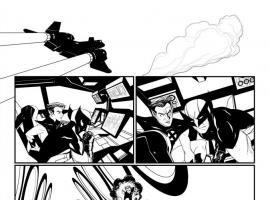 Uncanny X-Force #25 inked preview art by Mike McKone