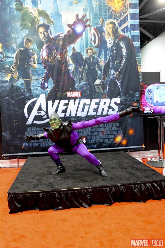 Green Goblin cosplayer at Wondercon 2012