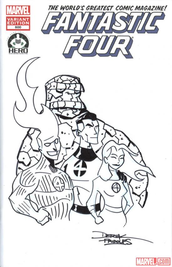 Fantastic Four #600 Hero Initiative variant cover by Derek Fridolfs 