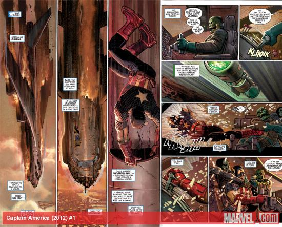 Captain America (2012) #1 preview art by John Romita Jr.