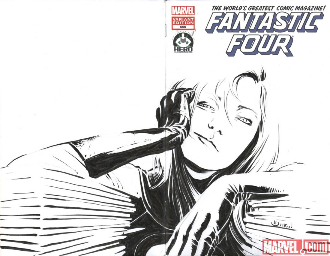 Fantastic Four #600 Hero Initiative variant cover by Marco Rudy