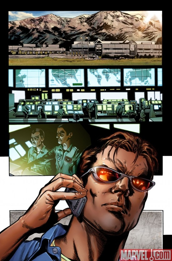 Preview page for ASTONISHING X-MEN #31 art by Phil Jimenez