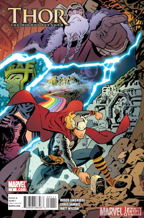 THOR: THE MIGHTY AVENGER #1 cover by Chris Samnee