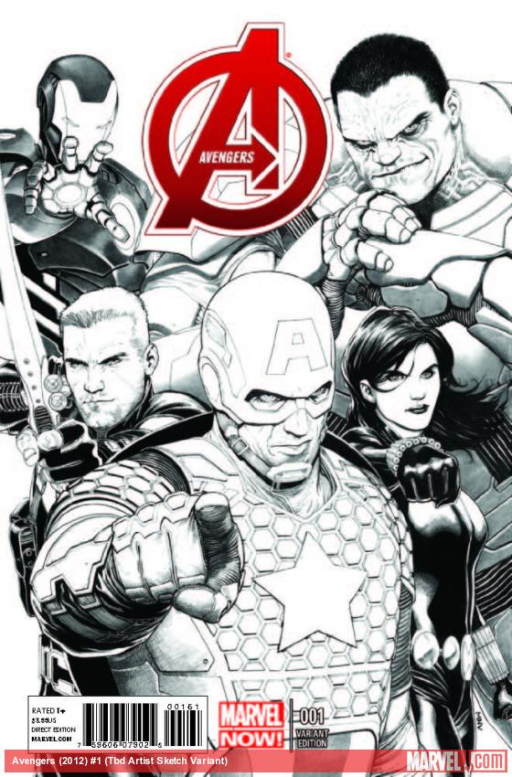AVENGERS 1 MCNIVEN SKETCH VARIANT (NOW, 1 FOR 150, WITH DIGITAL CODE)