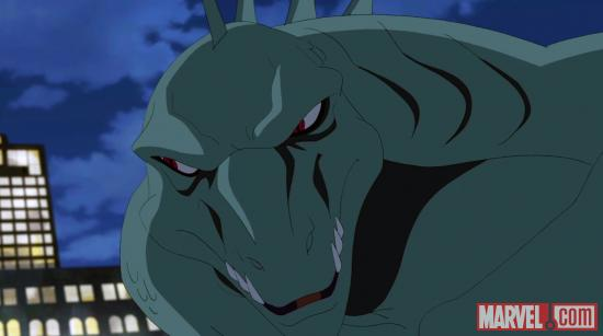 The Lizard's ready for his close up in Ultimate Spider-Man