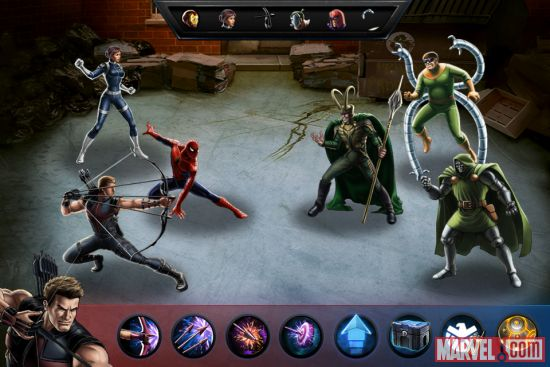 Face off against the likes of Doctor Doom, Doctor Octopus & Loki in Marvel: Avengers Alliance, now available on iOS devices