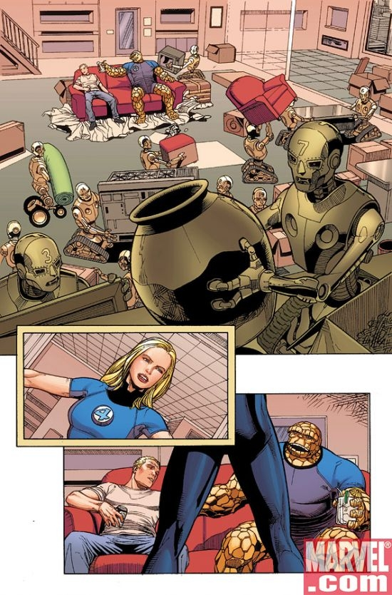 DARK REIGN: FANTASTIC FOUR #1 Interior Art