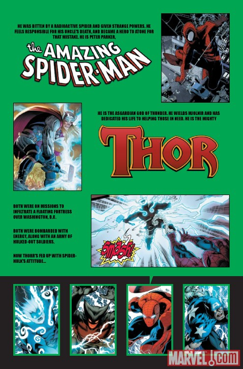 WORLD WAR HULKS: SPIDER-MAN VS. THOR #2 recap page