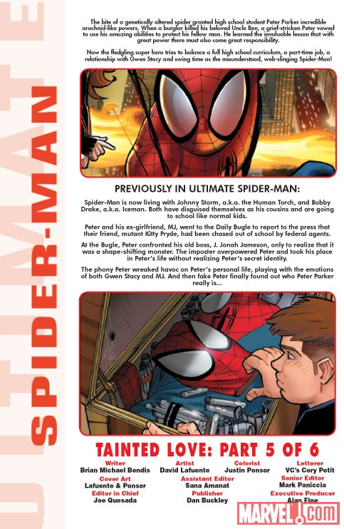 Ultimate Comics Spider-Man #13 recap page