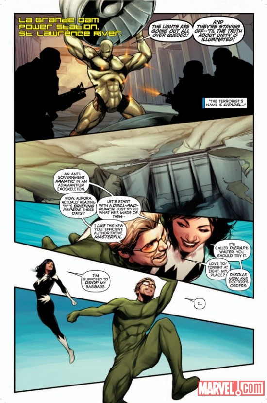 Alpha Flight #0.1 preview art by Ben Oliver
