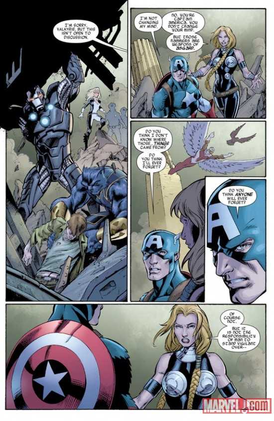 Fear Itself: The Fearless #1 preview art by Mark Bagley & Paul Pelletier