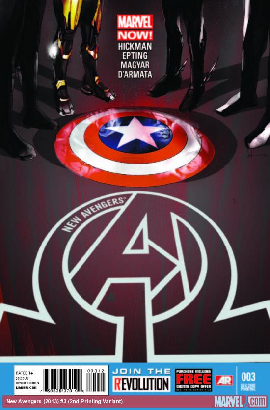 NEW AVENGERS 3 2ND PRINTING VARIANT