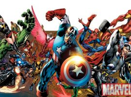 Image Featuring Thing, Hawkeye, Thor, Hulk, Vision, Human Torch, Wolverine, Invisible Woman, Captain Marvel (Carol Danvers), Iron Man, Winter Soldier, Mr. Fantastic, Quicksilver, Beast, Spider-Woman (Jessica Drew), Captain America, Spider-Man, Doctor Strange, Storm