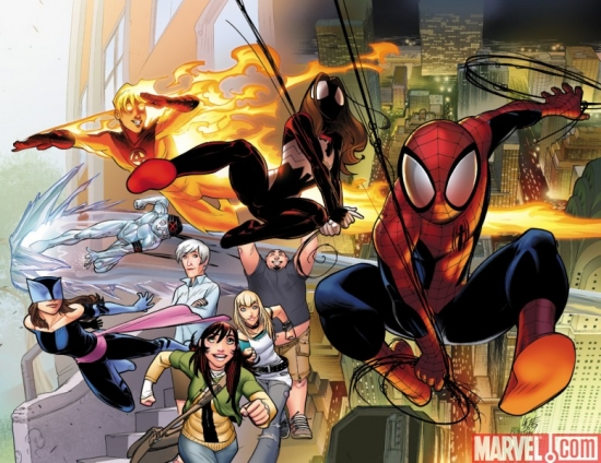 ULTIMATE COMICS SPIDER-MAN #1 cover by David Lafuente