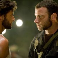 Wolverine and Victor Creed (the future Sabretooth, played by Liev Schreiber) face off