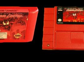 Maximum Carnage limited edition red carts for Genesis and SNES